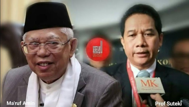 Tak Di Sangka. Ini Respon Prof Suteki Terhadap Penyesalan KH Ma'ruf Memberatkan Kasus Ahok