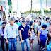 Candidato a deputado distrital Jorge Vianna convida Rogério Rosso para caminhada em Samambaia