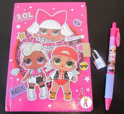 Блокнот дневник Лол Сюрприз с замком и ручкой