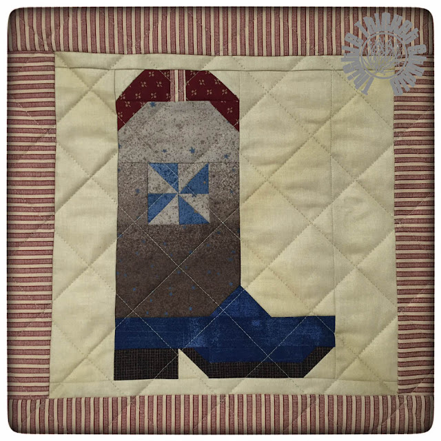 Howdy Y'all Cowboy Boot Pillow by Thistle Thicket Studio. www.thistlethicketstudio.com