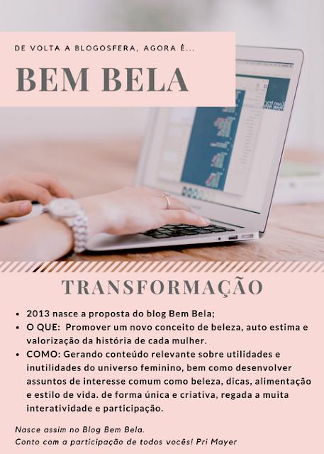 Nasceu Blog Bem Bela