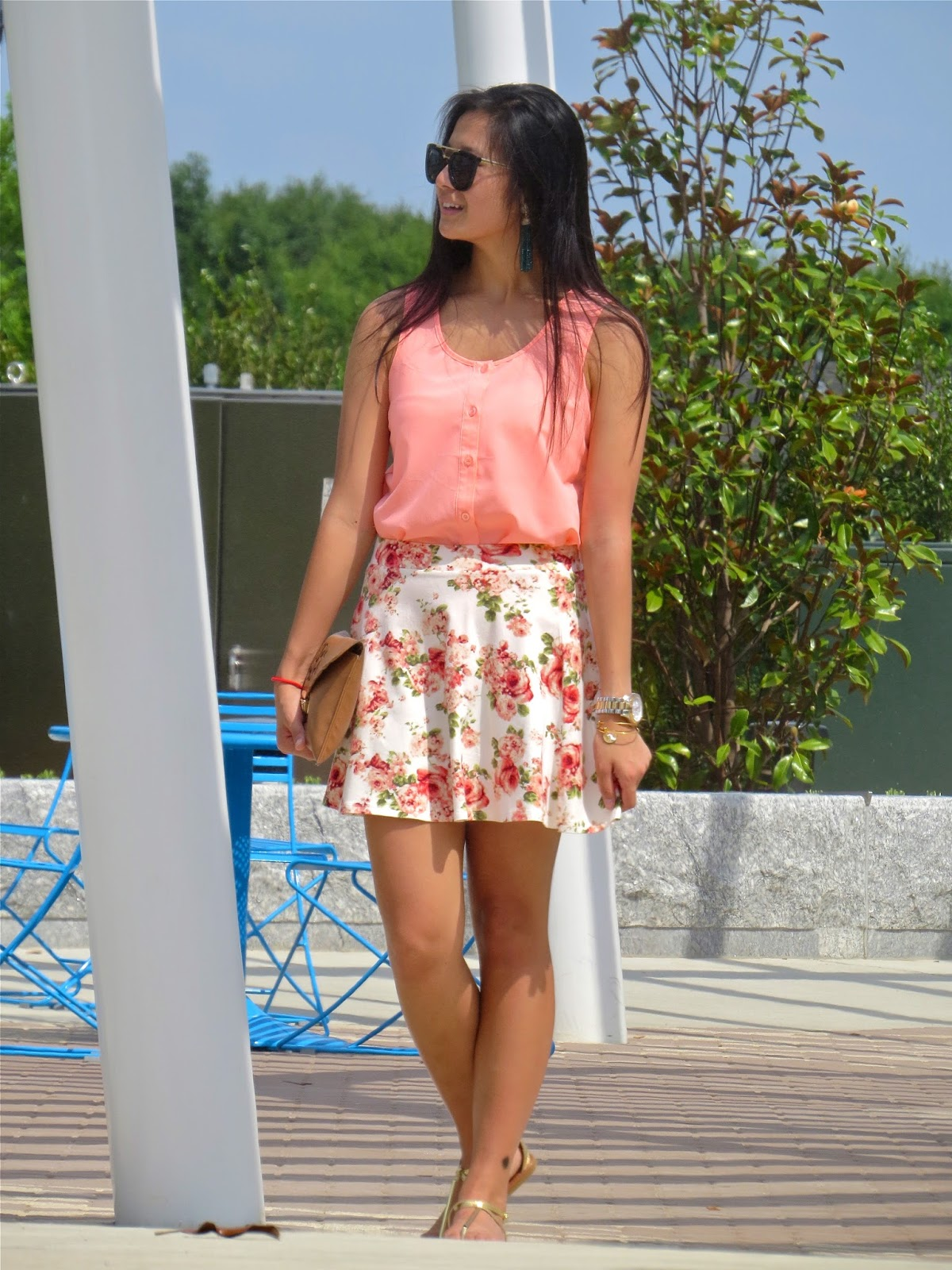 How to style a floral skirt for summer