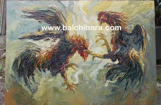 lukisan sabung ayam dan adu jago image