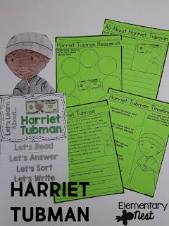 Black History Month Reading Resources- Harriet Tubman reading, online research, childrens books, biographies, and more to help teach Black History Month