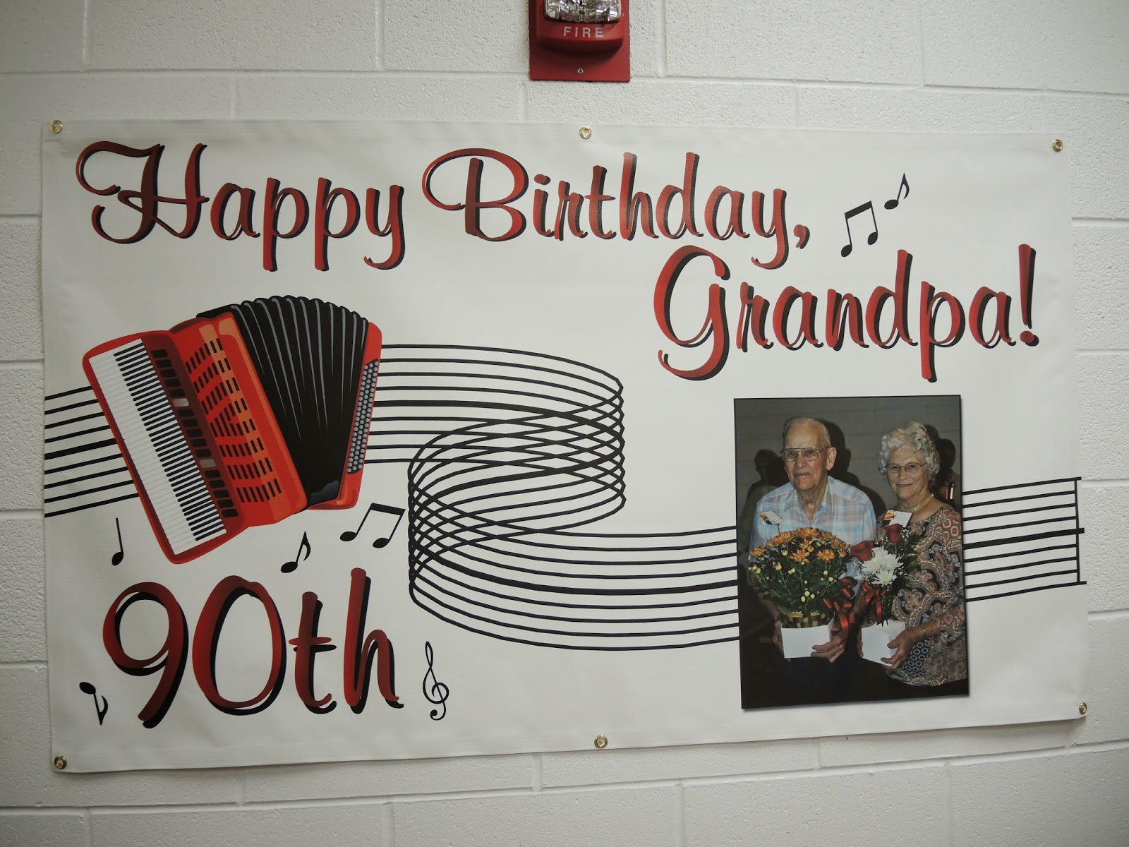 90th Birthday Banner - Designed & Printed by Banners.com