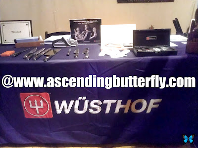 Wusthof knives on display at The Luxury Review exclusive Press Event in New York City