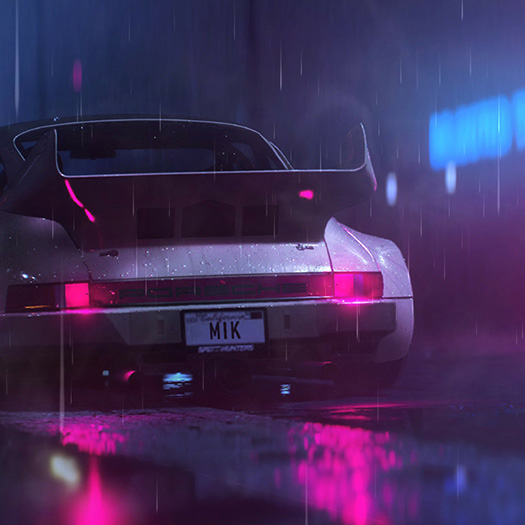 Synthwave Stream Wallpaper Engine
