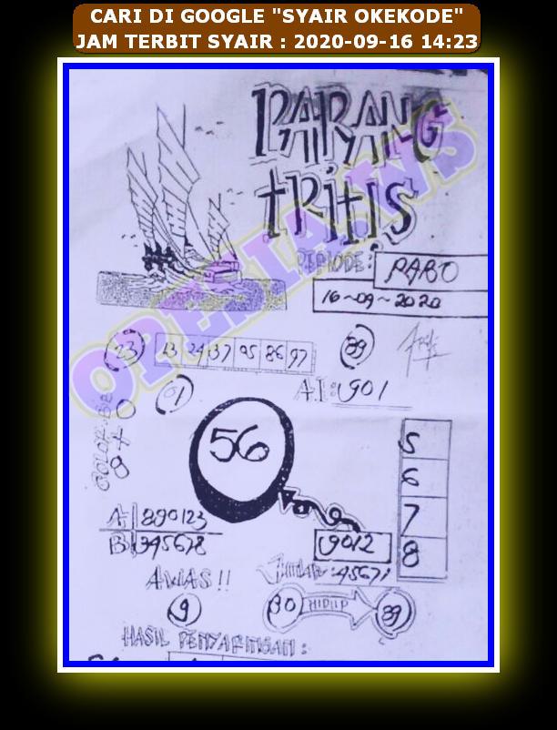 Kode syair Hongkong Rabu 16 September 2020 94