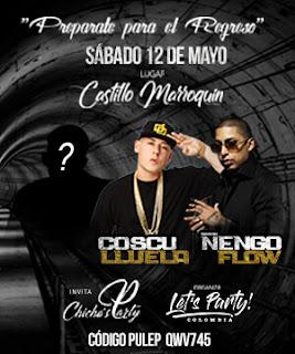 Concierto de Ñengo Flow y Cosculluela en Castillo Marroquin