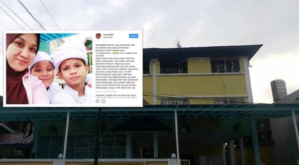 Mesej Ibu Yg Kehilangan 2 Anaknya Dlm Kebakaran Pusat Tahfiz Buat Majikannya SEBAK !!!
