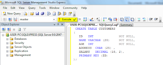 Microsoft SQL Server table