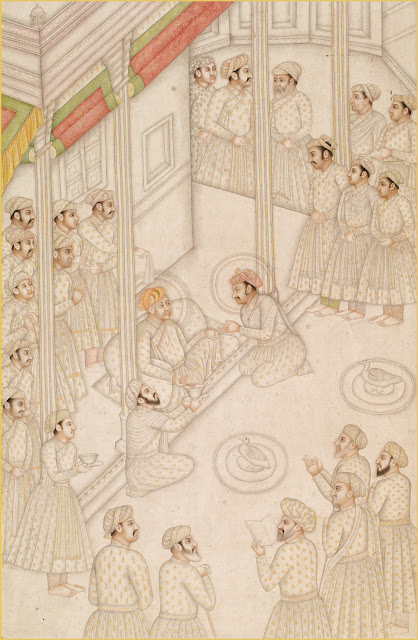 Akbar holding court during his final illness