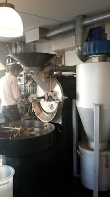Tim Wendelboe's coffee roaster.