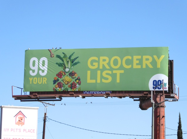 99c Pineapple Grocery billboard