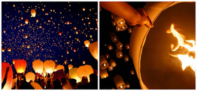 matrimonio lanterne volanti