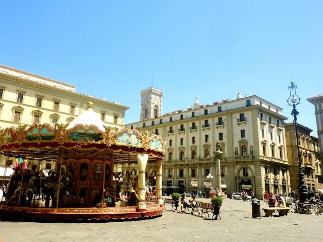 Carousel in the Piazza della Repubblica of Florence, Italy