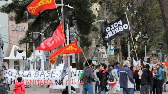 Argentinos protestan por la construcción de base militar de EEUU