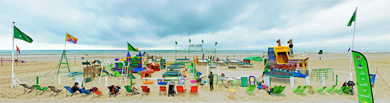 Photo panoramique de la plage du Touquet de Monique Wender