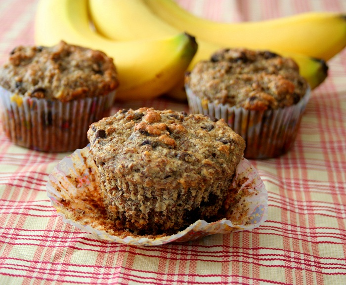 Banana Flax Chocolate Chip Muffins (Healthy, Gluten-Free Snacks for ...