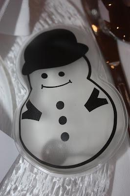 Gastgeschenke Handwärmer Taschenwärmer Schneemann Winterhochzeit - Winter wedding favors hand warmers snowman