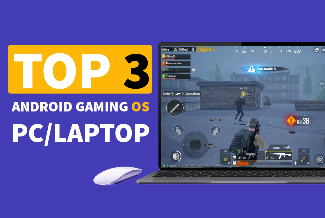 Top 3 best android gsming os for pc or laptop