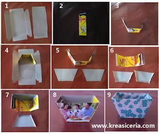 Tutorial vas atau pot dari kertas karton kotak susu