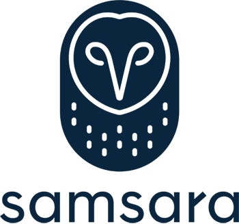 Samsara's digital-first logo features a memorable owl mark