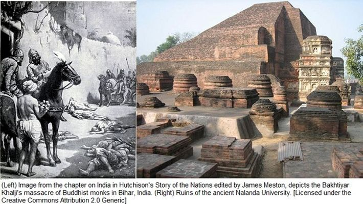 World's largest university Nalanda was destroyed by Muslims