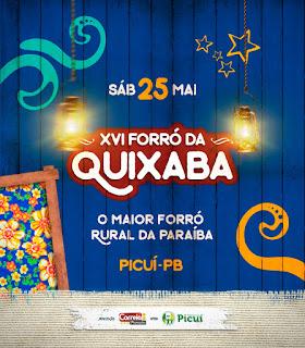 Forró da Quixaba 2019 em Picuí já tem data divulgada
