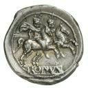 reverso del primer denario romano