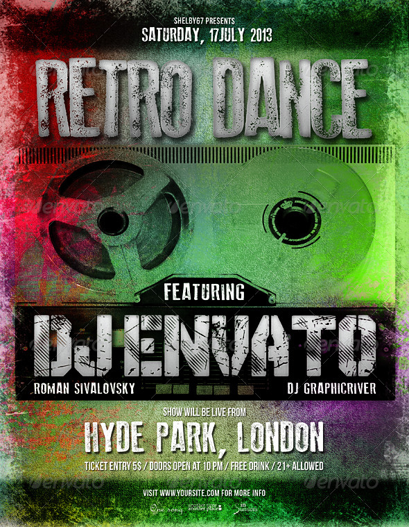 Retro Dance Flyer