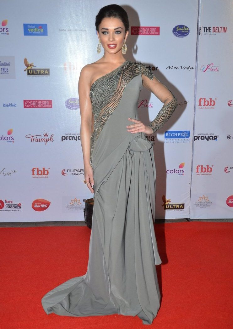Model Amy Jackson In Grey Dress At Femina Miss India