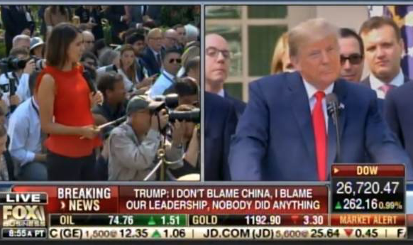 Trump destroys liberal reporter asking Kavanaugh question at historic trade agreement press conference