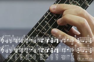 Music Visualization: Microtonal Guitar, Sagittal Notation. #VisualFutureOfMusic