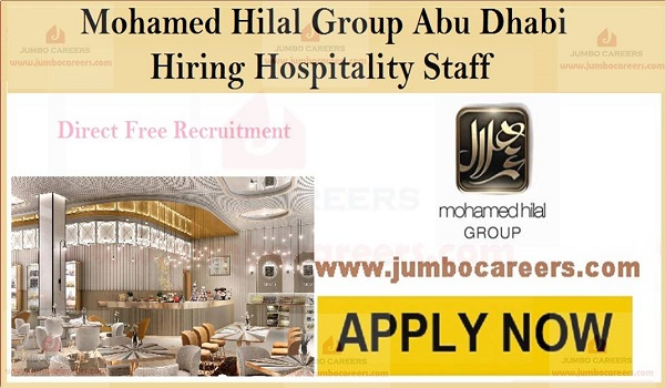 Available jobs in UAE, Abu Dhabi Hospitality jobs with salary,
