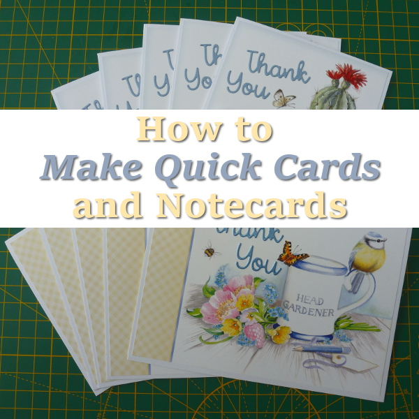How to Use Hunkydory Little Books to Make Very Quick Handmade Cards and Notecards