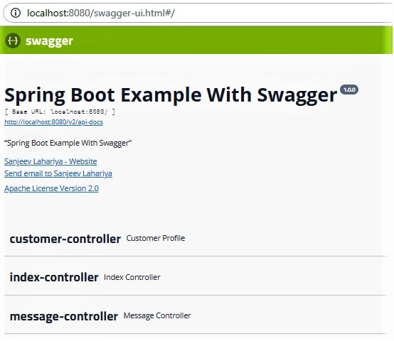 Java Study Point (Java iQ): Swagger Integration In Spring Boot