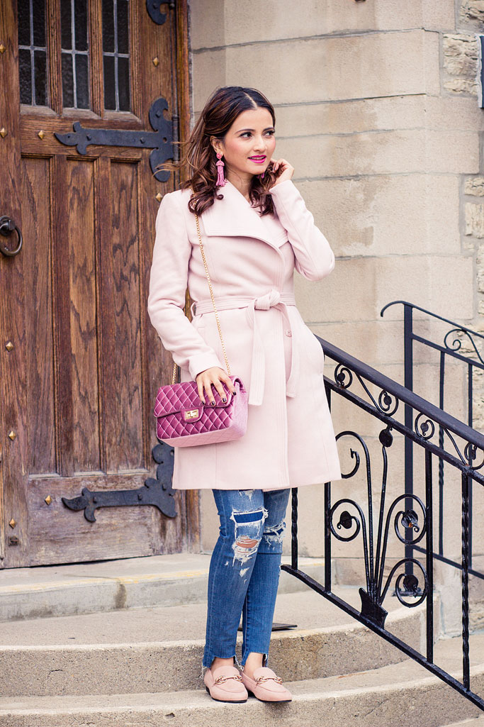 The Perfect Pink Coat for Fall and Winter