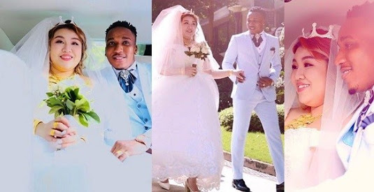 Cute photos from Nigerian man Gifted Harmony & Chinese lover's wedding