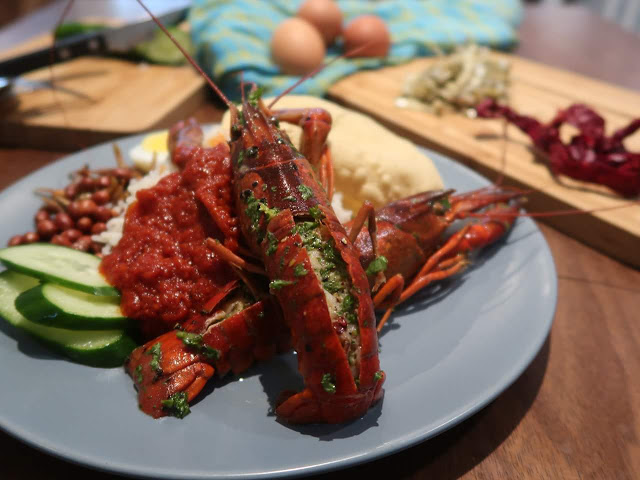 Nasi Lemak With Mini Lobster (Sitrus Sauted)