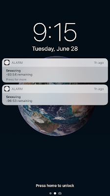 iPhone change snooze time alarm  in iOS11