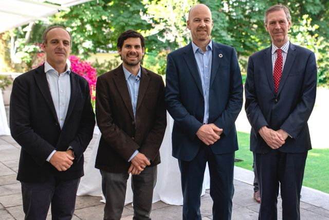Andrés Pesce, Guillermo González, Peter Skelton y Jamie Bowden