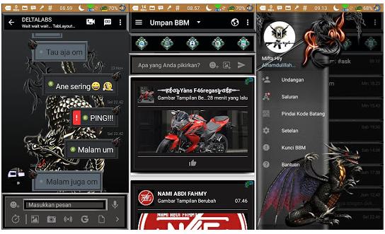 BBM MOD Darkness Dragon Apk v3.2.0.6 Full Transparan 2017