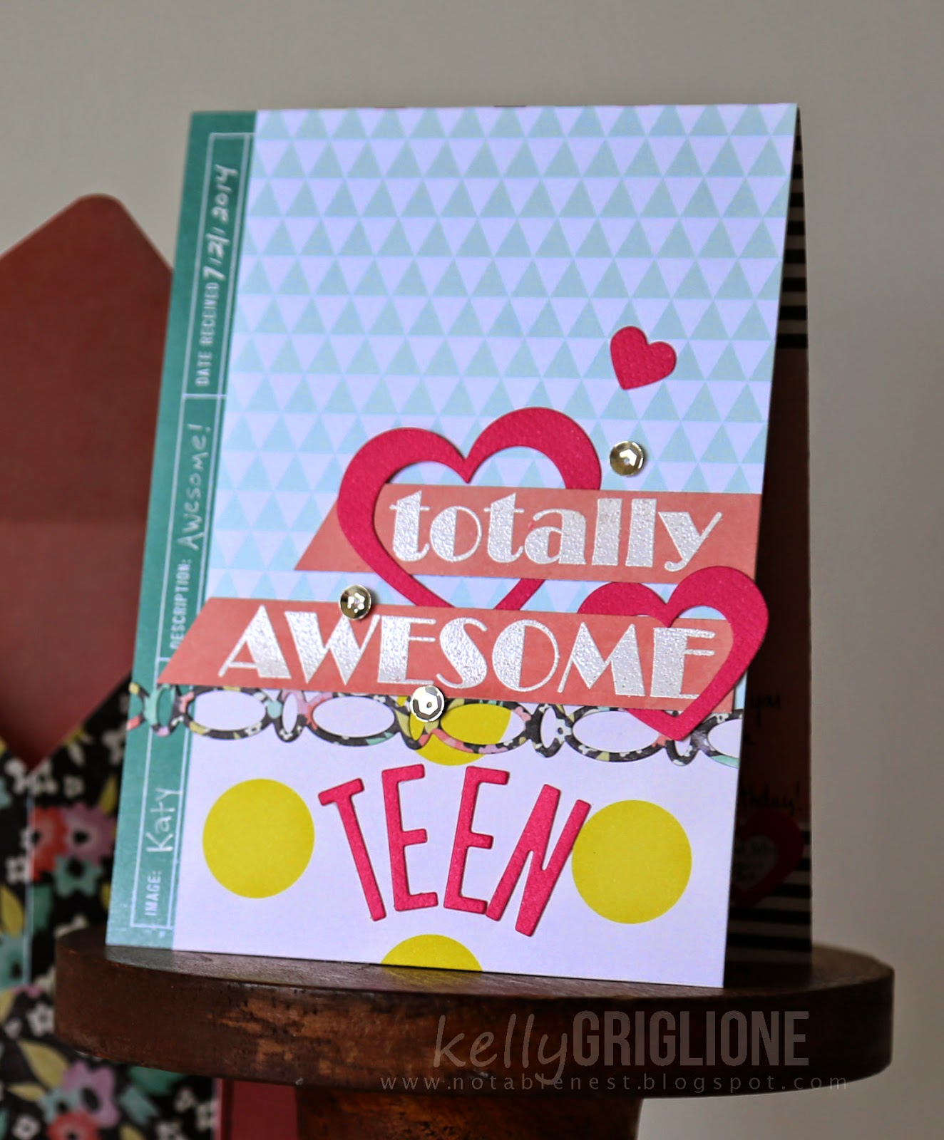 Totally Awesome Teen Birthday Card