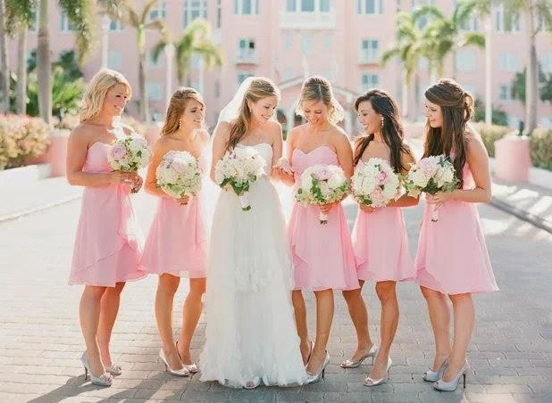 Short Light Pink Bridesmaid Dresses Australia