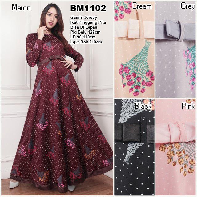 Bursa Grosir Busana Muslim Tanah Abang Bm1102 Long Dress