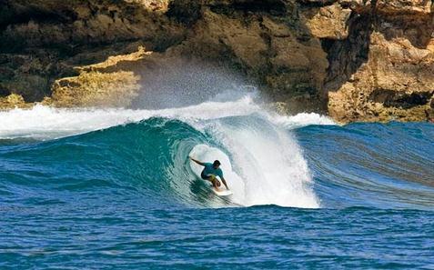 Tempat wisata pantai watu karung di pacitan