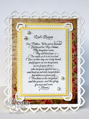 Our Daily Bread Designs Stamp Sets: For Thine is the Kingdom, Our Daily Bread Designs Custom Dies: Deco Border, Double Stitched Rectangles, Our Daily Bread Designs Paper Collection: Blushing Rose