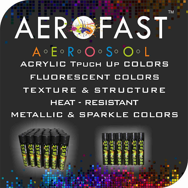 AEROFAST AEROSOL - 8758763344 TOUCH UP SPRAY PAINT