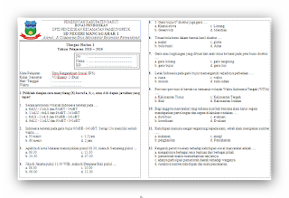 Soal Ulangan Harian (UH) IPS Kelas 6 Semester 2 SD/MI Tahun Ajaran 2015-2016